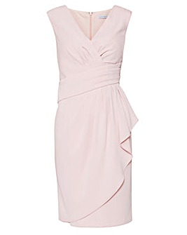 Gina Bacconi Doro Moss Crepe Dress