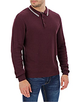 Mulberry Tipped Polo Jumper Long
