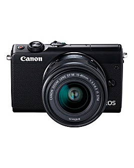 Canon EOS M100 CSC Camera Kit Black