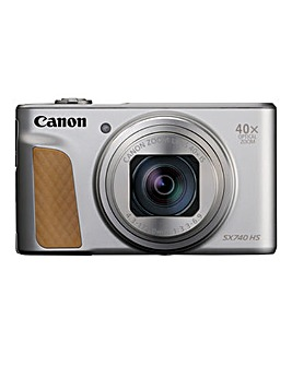 Canon PowerShot SX740 HS Camera Silver 20.3MP 40x Zoom 4K WiFi