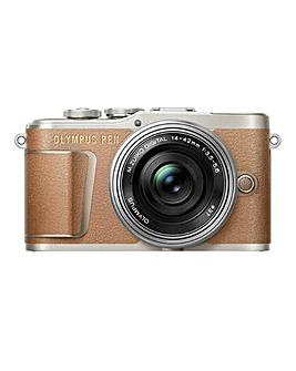 Olympus PEN E-PL9 Cashmere Brown + Lens