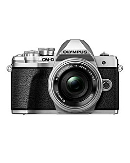 Olympus OM-D E-M10 MK III Silver Camera 14-42mm EZ Pancake + 40-150mm R Lens