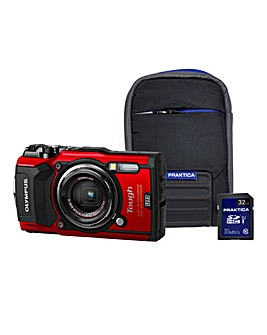 Olympus TG-5 Red Tough Camera Kit