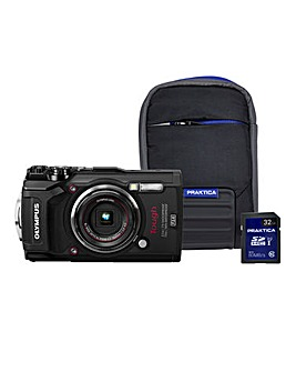 Olympus TG-5 Black Tough Camera Kit