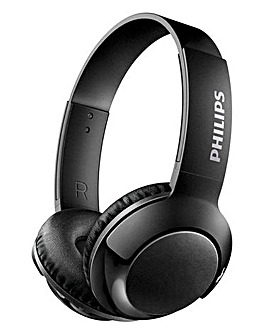 Philips Bass+ Black On-Ear-Bluetooth Headphone Black