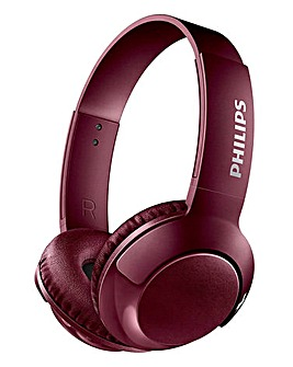 Philips Bass+ Bluetooth Headphone Red