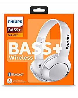 Philips Bass+ Bluetooth Headphone White