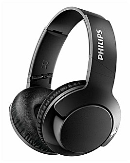 Philips Bass+ Black Around-The-Ear-Bluetooth Headphone Noise Isolation