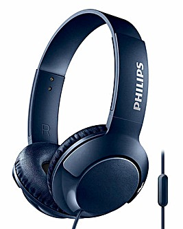 Philips Bass+ Blue On-Ear Headphone