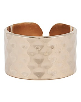 Mya Bay Hammered Texture Ring Gold Tone