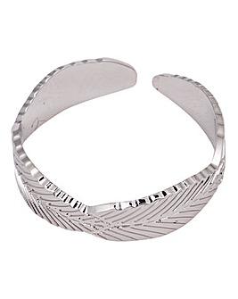 Mya Bay Leaf Ring - Silver Tone