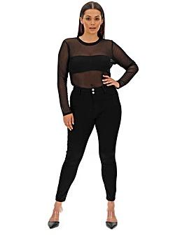 Black Shape & Sculpt Apple Fit Skinny Jeans