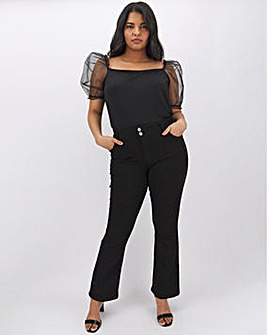 Black Shape & Sculpt Bootcut Jeans