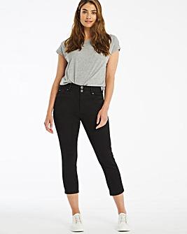 Shape & Sculpt Black Crop Jeans