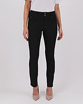 Shape & Sculpt Black Straight Leg Jeans