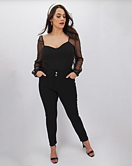 Black Shape & Sculpt Straight Leg Jeans
