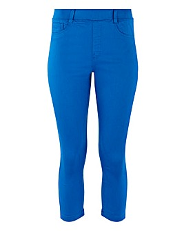 Amber Cobalt Blue Crop Jeggings