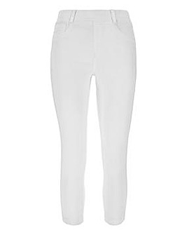 Amber White Crop Jeggings