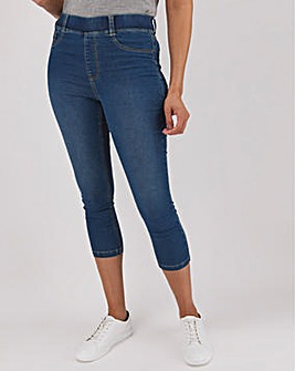 Amber Mid Blue Crop Jeggings