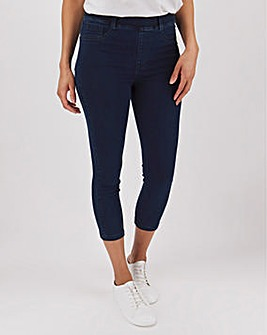 Amber Dark Indigo Crop Jeggings