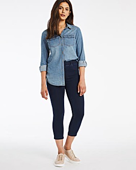 Amber Dark Indigo Pull On Cropped Jeggings