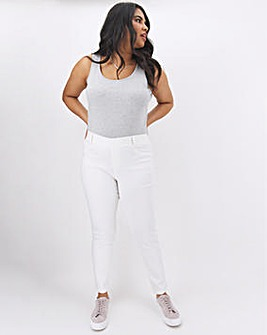 Bella White Slim Leg Jeggings