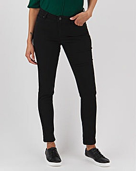 Black Soft Touch Relaxed Skinny Jeans