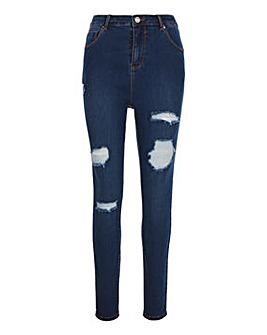 Chloe Vintage Blue Ripped Skinny Jeans