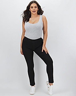 Bella Black Pull On Slim Leg Jeggings