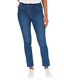 Bella Mid Blue Slim Leg Jeggings