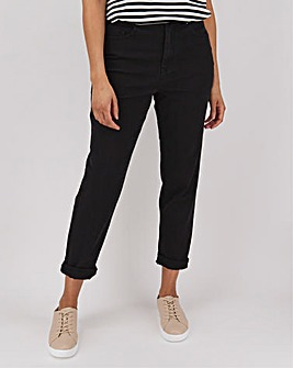 Demi Black High Waist Mom Jeans