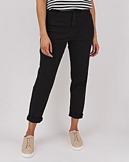 Demi Black High Waist Mom Jeans