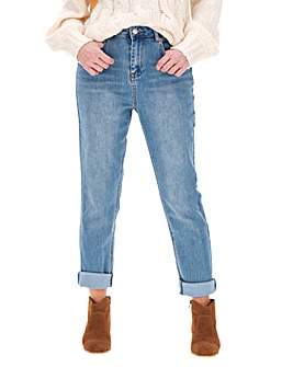Demi Stonewash High Waist Mom Jeans