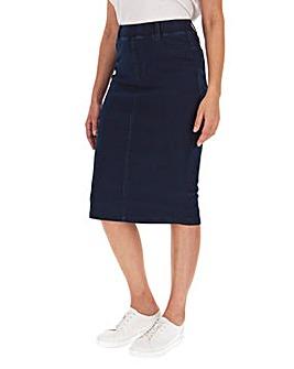 Indigo Amber Pull-On Denim Tube Skirt