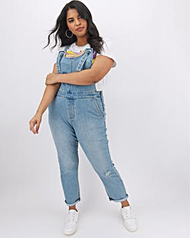 Stonewash Knot Tie Ripped Dungarees
