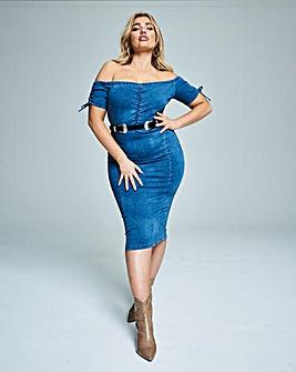 Blue 4 Way Stretch 'Show Your Shape' Denim Bodycon Dress