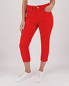 24/7 Red Crop Jeans