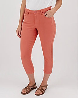 Coral Soft Touch Slim Leg Crop Jeans