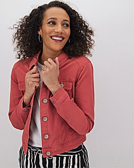 Baked Pink Western Denim Jacket