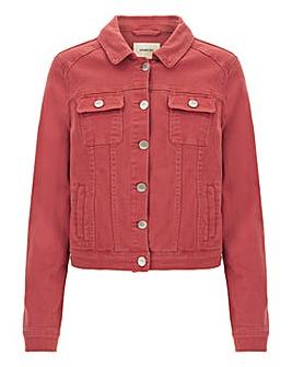 Baked Pink Western Denim Jacket