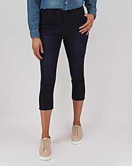 Lucy Indigo High Waist Crop Jeans