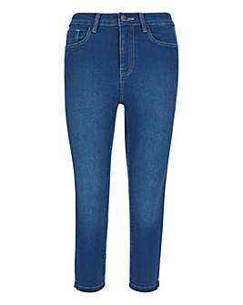 Lucy Blue High Waist Crop Jeans