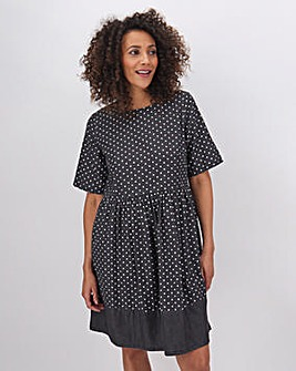 Spot Lightweight Denim Smock Dress