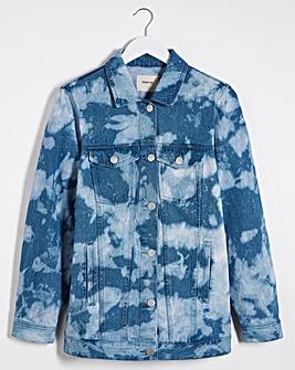 Bleach Tie Dye Oversized Denim Jacket