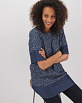 Spot Lightweight Denim Smock Tunic