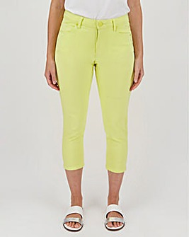 Lime Soft Touch Crop Jeans