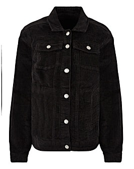 Stretch Cord Oversized Western Jacket