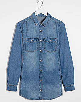 Mid Blue Western Denim Shirt