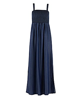 Tencel Bandeau Maxi Dress