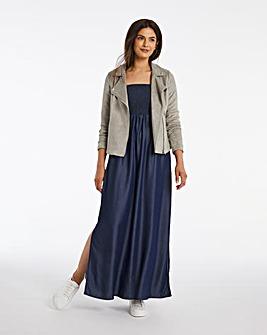Tencel Bandeau Maxi Dress
